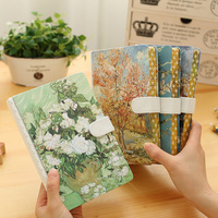 JOUDOO Creative Beautiful Natural Scenery Notebook Magnetic Buckle Hard Covered Agenda Notepad Office School Supplies Stationery