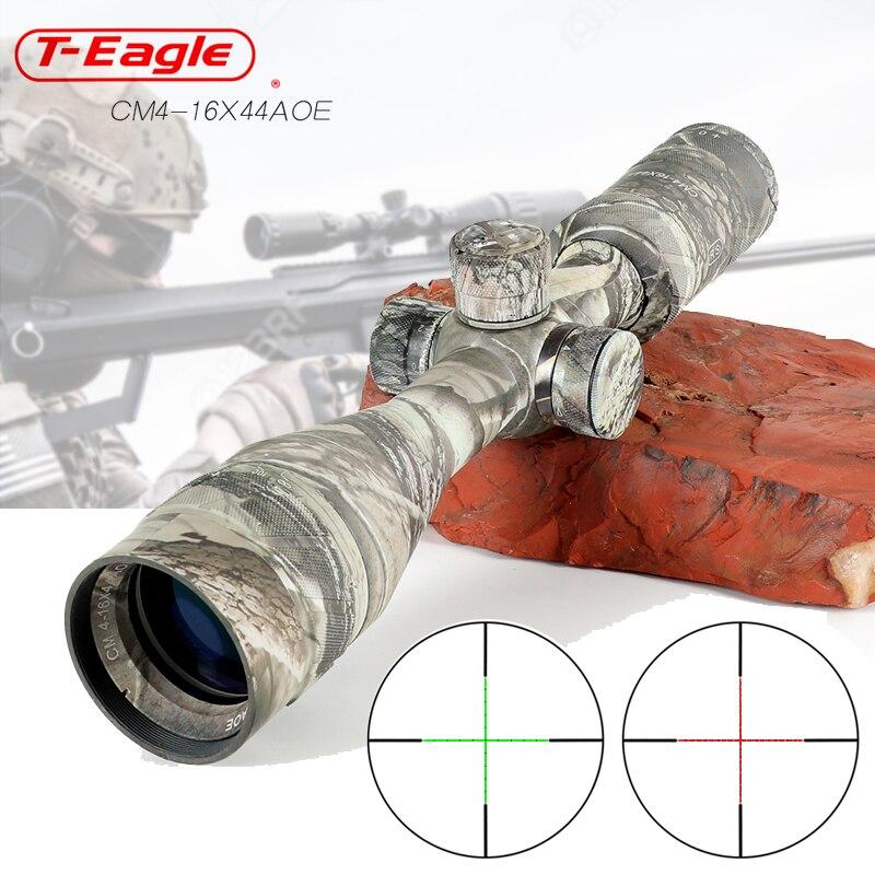 Hunting 4-16x44AOE Long Range Camouflage Riflescope Optic Sight Rifle Scope Hunting Scopes Sniper Luneta Para Rifle Scope