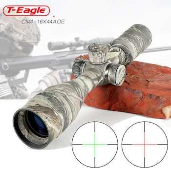 цена на Hunting 4-16x44AOE Long Range Camouflage Riflescope Optic Sight Rifle Scope Hunting Scopes Sniper Luneta Para Rifle Scope