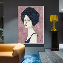 Modern Character Beauty Avatar Poster Picture Retro Home Wall Art Canvas Painting Decorative Wall Stickers Can Be Customized(China)