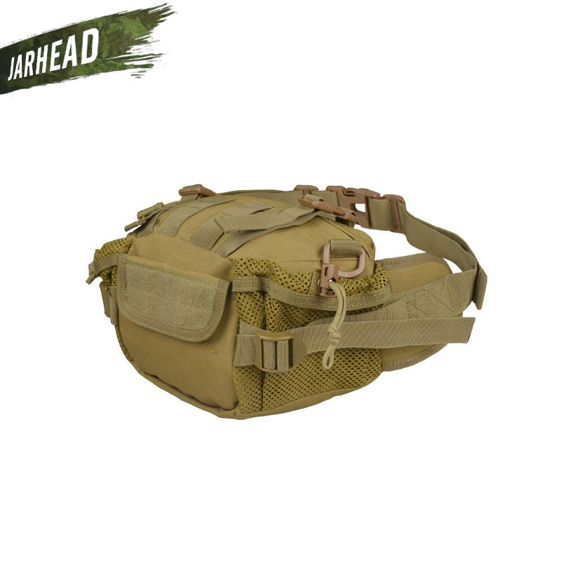 US Tactical Waist Bag Pouch Belt Pack Outdoor Camping Hiking Waterproof BY