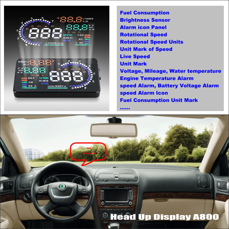 For Skoda Octavia Tour Laura - Car HUD Head Up Display  - Safe Driving Screen Projector Refkecting Windshield car usb sd aux adapter digital music changer mp3 converter for skoda octavia 2007 2011 fits select oem radios