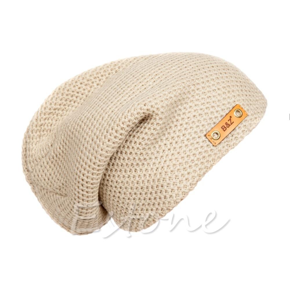 Aliexpress.com: Comprar Hombres señoras punto slouch crochet Beanie ...