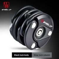 Wheel up bicycle lock anti theft chain lock burger lock mountain bike fixed folding lock bicycle padlock