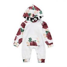 VTOM Autumn New  Infant Baby Rompers Girls Boys Clothes Hooded Romper Long-sleeved Jumpsuit Playsuit One Piece
