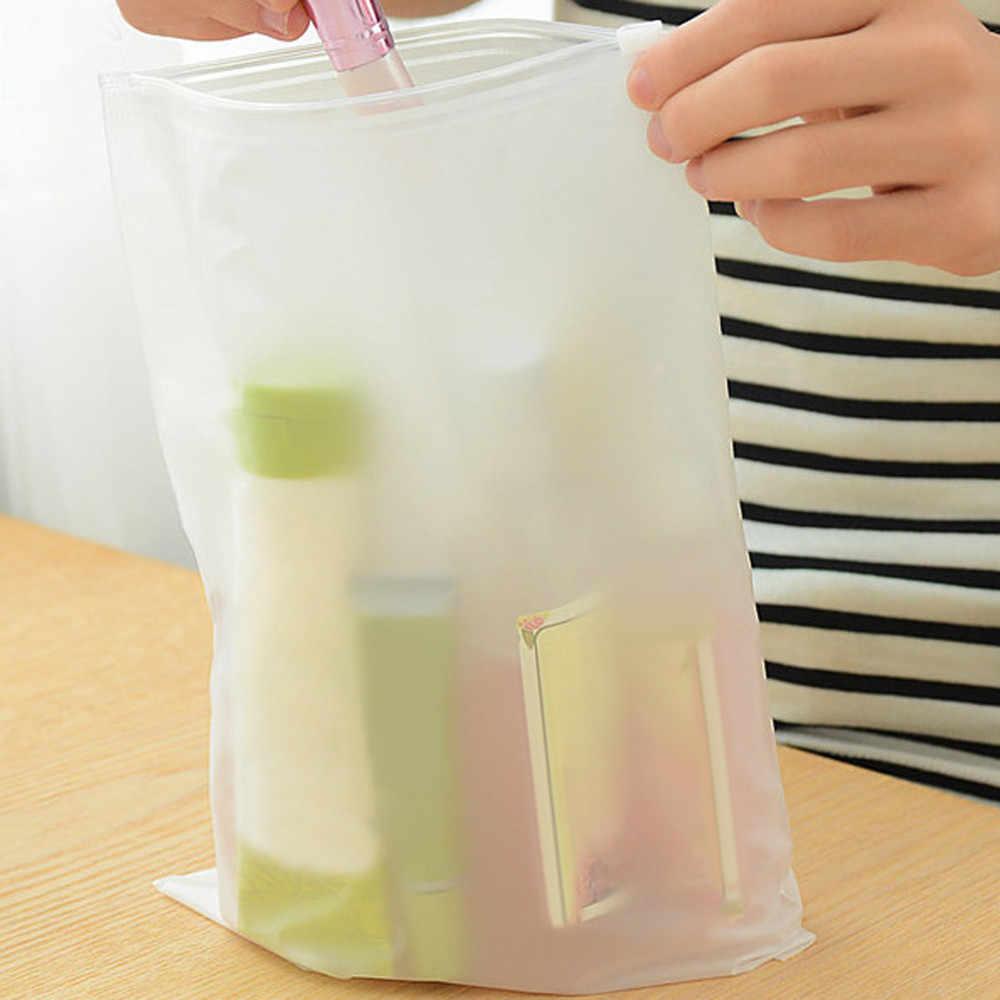 Organizador de viaje bolsa de vacío de viaje Zip Lock bolsas de almacenamiento de plástico ropa interior calcetines Zapatos cosméticos embalaje F321