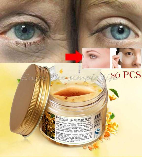 Высокоэффективные Османтуса Eyemask Размещены 80 ШТ. Увлажняющая Маска Для Глаз Добраться До Вэнь Для Отбеливания Уход За Глазами Здоровье Уход За Кожей Лица макияж