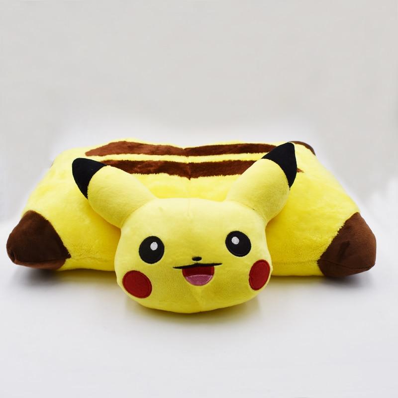 2018 Kawaii Pikachu Peluche Toys 40cm Pikachu Plush Pillow Sleep Cushion Soft Stuffed Animal Doll Kids Toys Birthday Gift