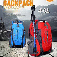 TECHWILL 40L Waterproof Nylon Outdoor Backpack Athletic Sport Hiking Travel Rucksack Bag