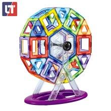 Designer De Brinquedos Educativos 62PCS3D Builiding Blocos de Construção Magnético tamanho grande Set Crianças Brinquedos Para Iluminação Chldrens