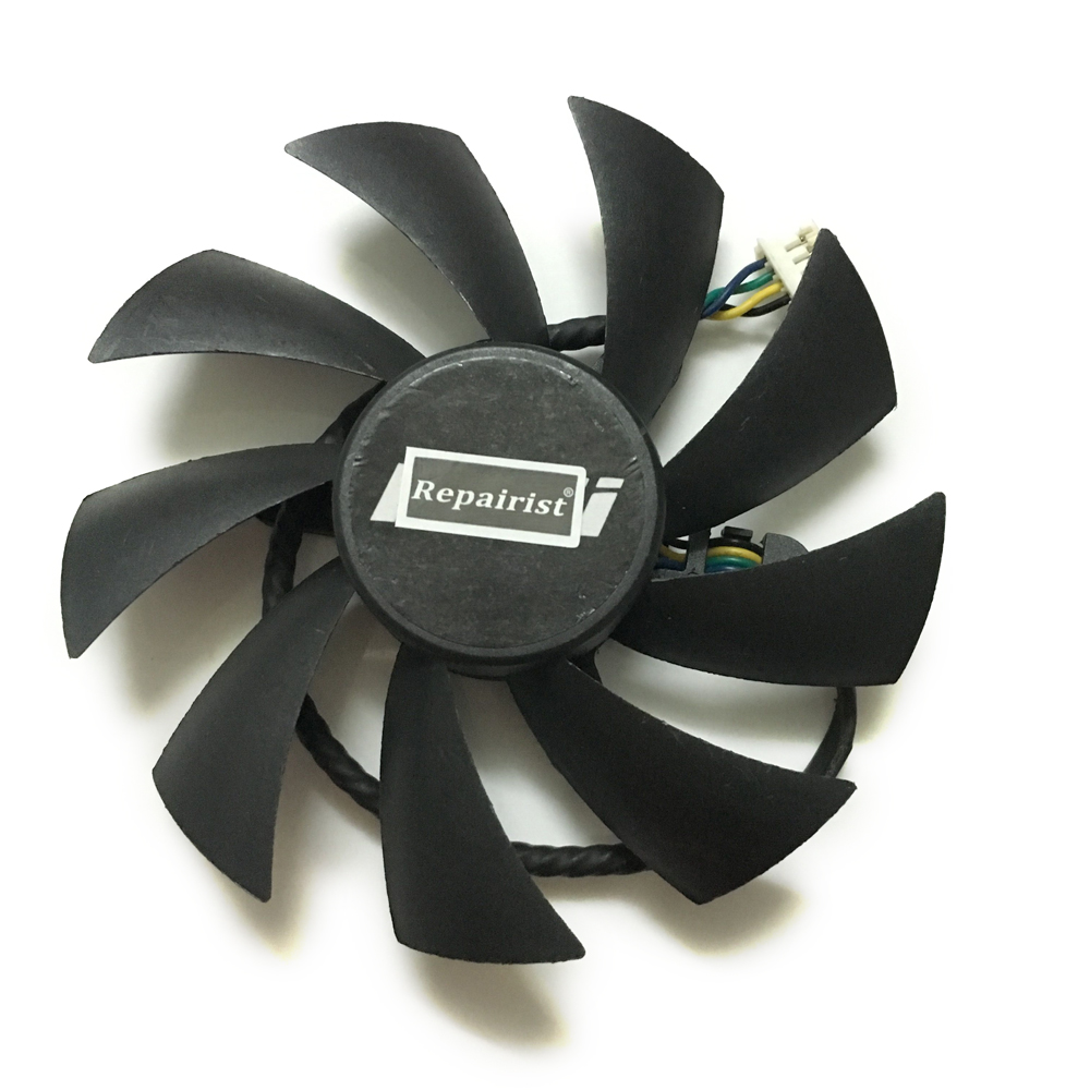Free shipping PLA09215B12H 4Wire 4Pin 12V 0.55A 87mm cooler fan For MSI N560 570 580GTX HD6870 Graphics card cooling free shipping for delta ffr1212dhe sp02 dc 12v 6 3a 120x120x38mm 4 wire car booster fan