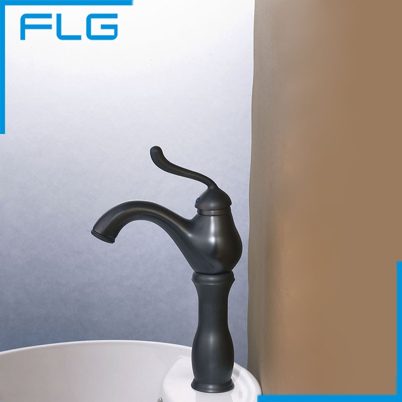 ФОТО FLG High Quality Plumbing Materials Oil Rubbed Bronze Basin Faucet Bathroom Sink Tap Mixer Faucets