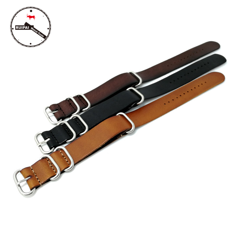 High End NATO straps genuine cow leather Watch Band Strap 18mm 20mm 22mm ZULU NATO Watch Band strap wholesale 10pcs lot 18mm 20mm 22mm 24mm nato strap genuine leather coffee color watch band nato straps zulu strap watch straps