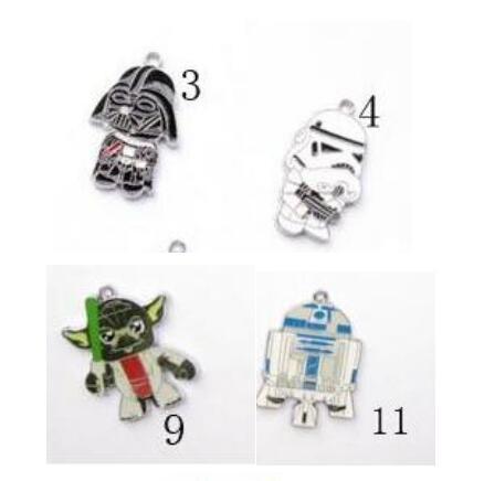 600pcs New star wars Charms Alloy Enamel Pendants DIY Jewelry Findings Ornament Accessories L 11