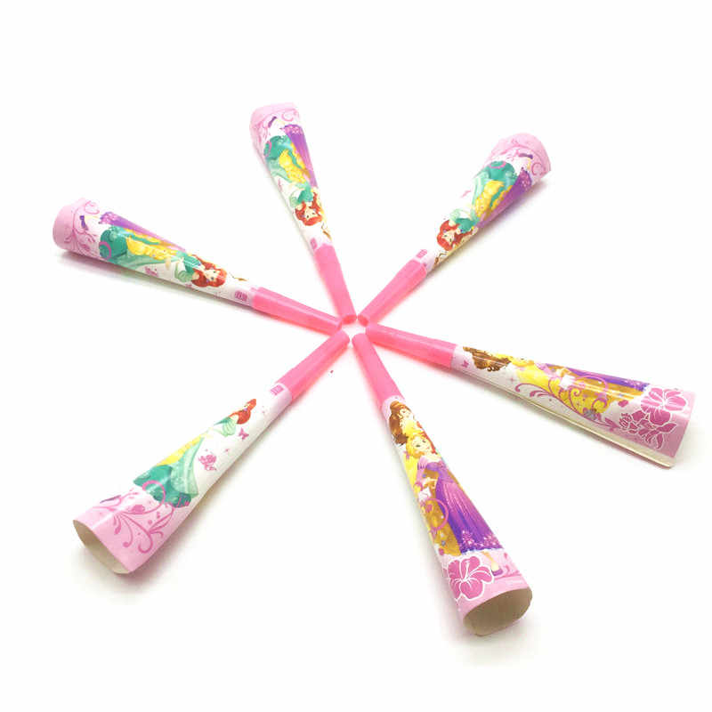 Noise Maker 6Pcs/lot Six Princess Snow White Theme Horn Kid/Girl Birthday Party Horn Family Party Funny Whistles Toy Supplies
