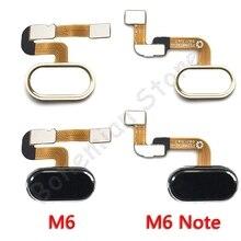 Back Home Button Fingerprint Flex Cable For Meizu M6 Note Home Back Button Flex Cable Mobil