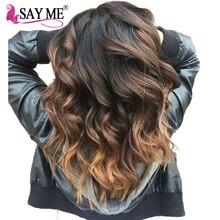 SAY ME Peruvian Body Wave 1b/4/30 Non Remy Ombre Human Hair Weave Bundles Auburn 10-26 Light Brown Hair Weft 100g 3 Three Tone