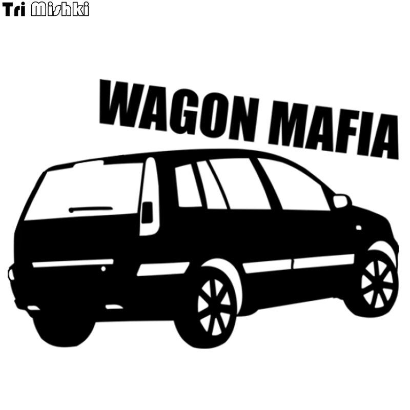Tri Mishki HZX535 14x20 cm wagon מאפיה רכב מדבקה ויניל מדבקות אופנוע אביזרי מדבקה רעיוני