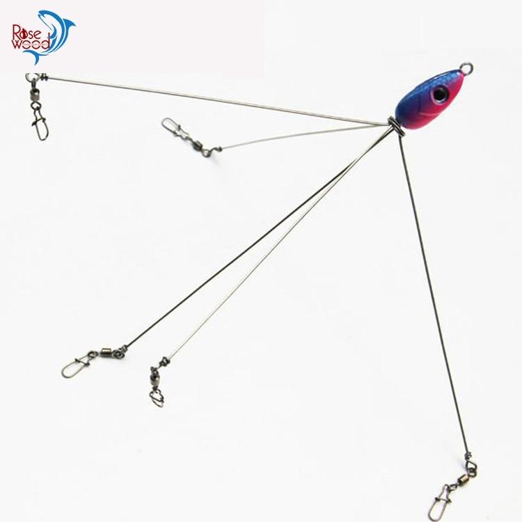 Rosewood 2pcs new alabama umbrella stainless steel fishing Umbrella rig fishing