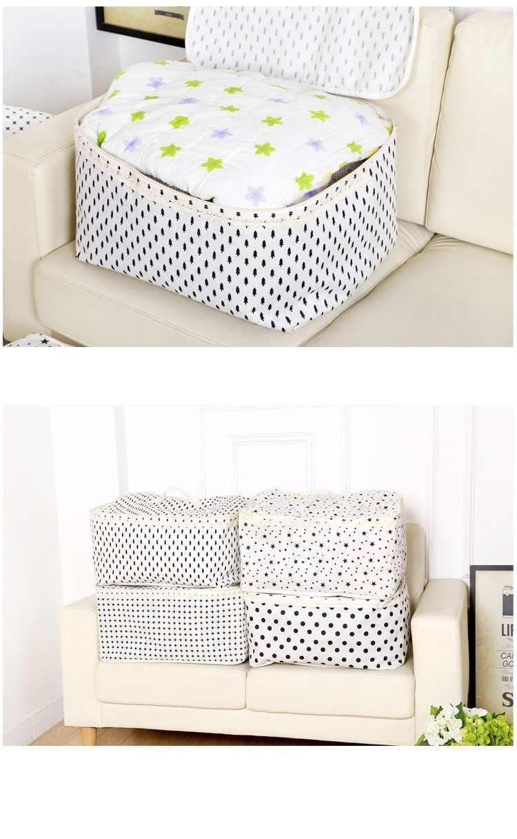 À prova d' água de Linho Dobrável caixa de armazenamento de roupas organizador brinquedos de armazenamento quilt organizador bin Lavanderia cesta de armazenamento caixa de armazenamento de Grande