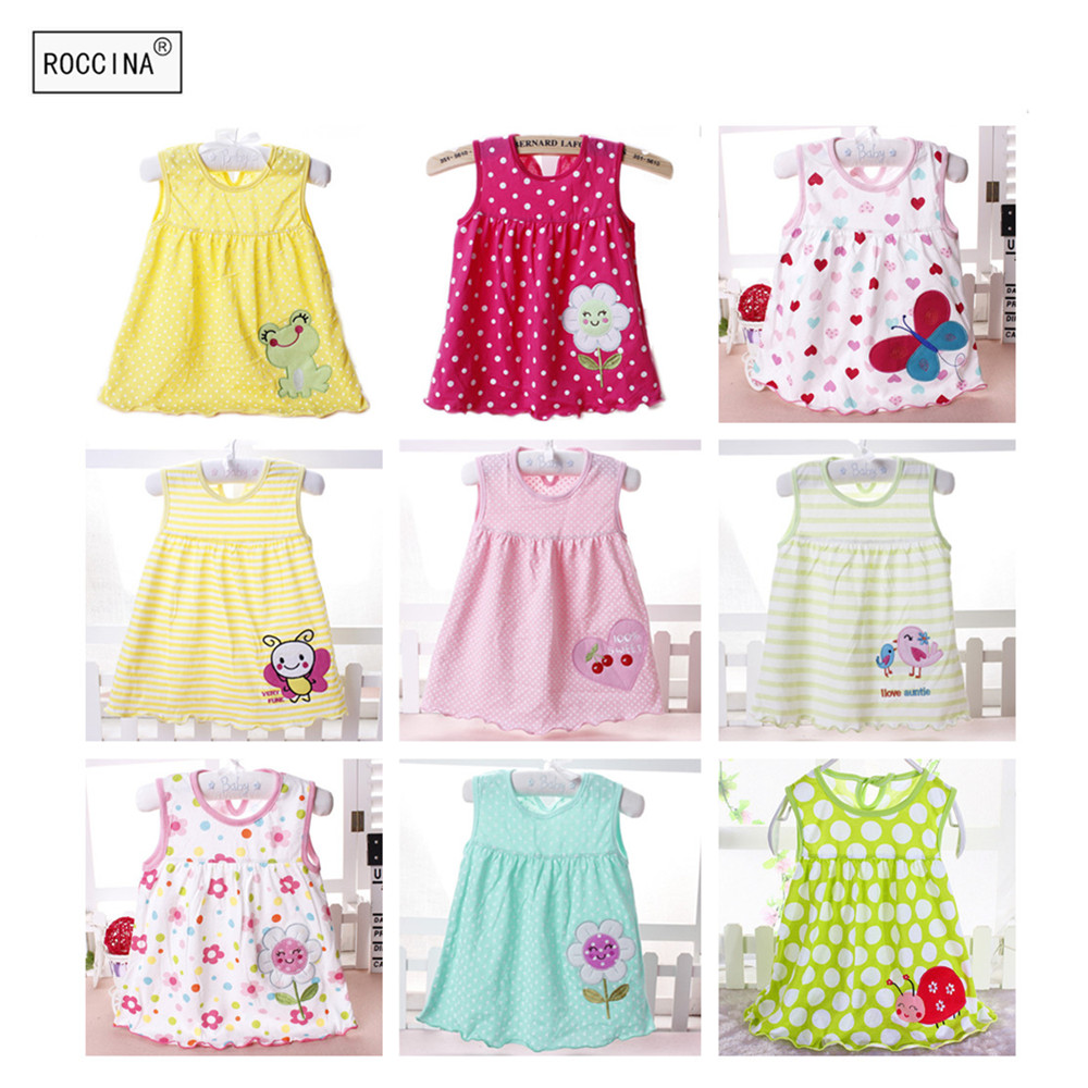 f9526f29f Best buy Lovely Baby Girl Dress Flower Baby Clothes Sleeveless Cotton Baby  Dress Toddler Infant Costume Children Dress Girl Kids Costume online cheap