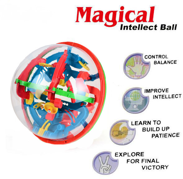 BOHS 100 Steps 3D Labyrinth Magic Rolling Globe Ball