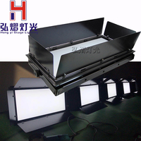 1pcs/lot 150w white video panel light LED stage Lighting for Theater TV Stage Studio with Barn door