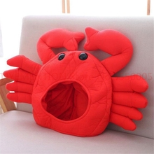 Red Crab Hat Cosplay Costumes Props Accessories Plush Head Fancy Cap Take Photos 2pcs