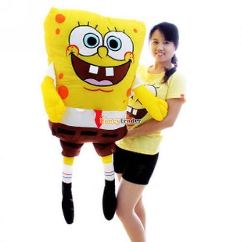 Fancytrader New Huge 47 inches/120 cm XXL Size Giant Plush Stuffed Spongebob Stuffed Sponge Bob gifts FT90024