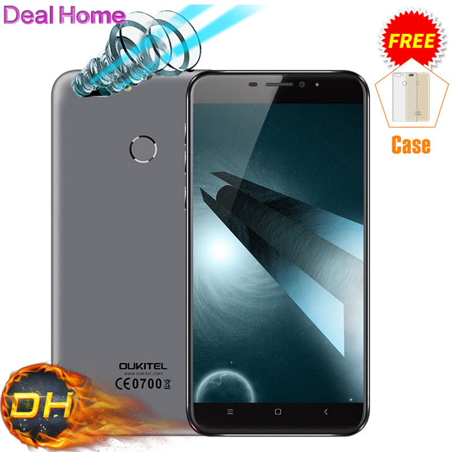 "Original Oukitel U20 Plus Dual Camera Mobile phone 4G LTE Android 6.0 5.5"" FHD MTK6737T Quad Core Fingerprint ID 13MP"