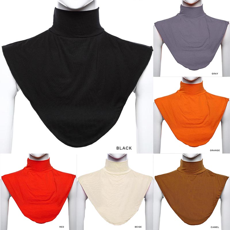 Free Shipping 2017 New Black Islamic Muslim Clothing Hijab Neck Covers Collar Scarf Loop For Women