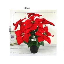 bonsai Direct selling home decor seven spend holiday party put simulation art potted flower decoration