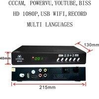 HD S3 Set Top Box Satellite Receiver DVB S2 1080P HD Satellite TV Decoder You Tube