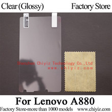 Clear Glossy LCD Screen Protector Guard Cover Protective Film Shield For Lenovo A880 A880i