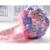 2017 dama de Honor Nupcial de La Boda Bouquet Barato Nuevo Lujo de Cristal Púrpura y Rosa Hecha A Mano Artificial Rose Flores Ramos de Novia