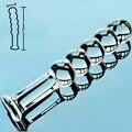 5 бусы pyrex стекло поддельные пенис кристалл искусственный мужской член анальный дилдо butt plug masturbator взрослых секс-игрушки для геев женщины мужчины