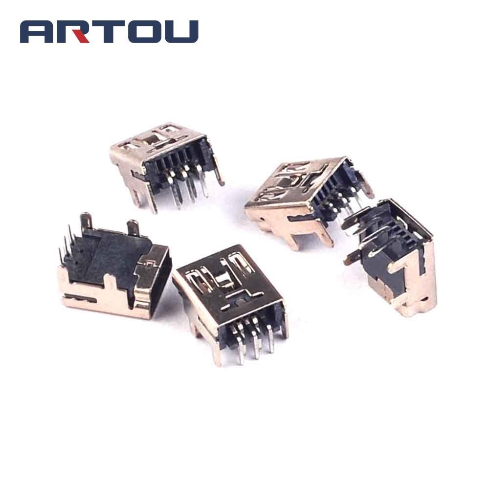 20PCS Mini USB Connector DIP Type MINI 5 PIN Socket 90 Socket