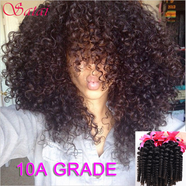 Brazilian Virgin Hair 3Bundles Kinky Curly Virgin Hair Afro Kinky Curly Hair 10A Unprocessed Afro Curly Weave Human Hair Bundles