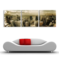 With Framed Canvas Printings Cityscape abstract Modern Wall Painting Home Decorative Children's room HPP3 002
