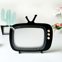 Garden Home Wooden TV Colorful Transparent Change Piggy Bank Handmade Engraving Production TV Money 040 y