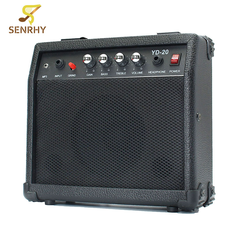 Senrhy Portable Electric Guitar Speaker Amplifier Micro Speaker 20W With Portable Handle For Guitar Learners AC 220-240V aroma ag 03m 5w guitar amp recorder speaker tf card slot compact portable multifunction guitar amplifier usb data line
