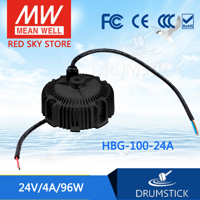 MEAN WELL HBG-100-24A 24V 4A meanwell HBG-100 24V 96W Single Output LED Driver Power Supply [Real1] [cheneng]mean well original plc 100 24 24v 4a meanwell plc 100 24v 96w single output switching power supply