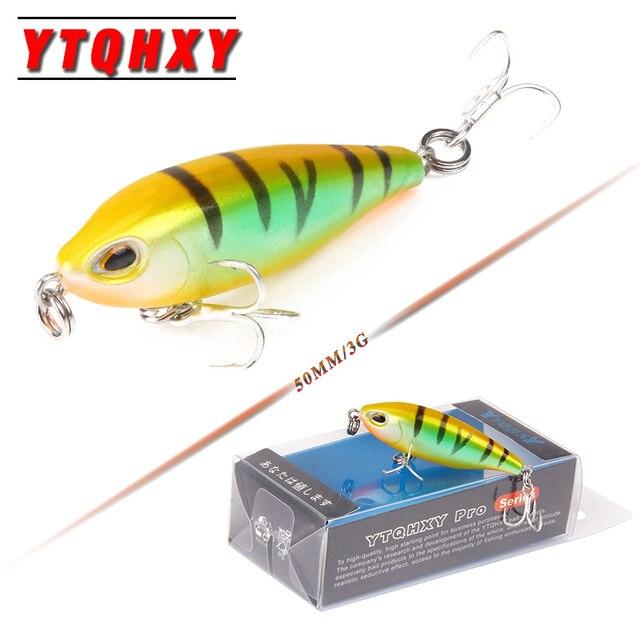 YTQHXY Lifelike VIB Floating Fishing Lure 50mm 3g Fish Wobblers Crankbait Artificial Jerkbait Japan Hard Bait Tackle YE-418