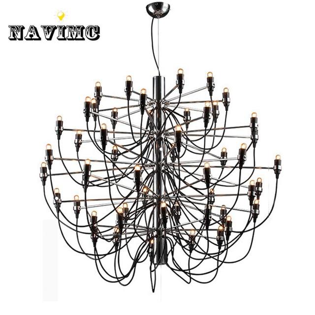 Modern Large Big LED Black Chandelier Light 50 Bulbs Lamp For Dining Room  Foyer Lamp Entryway