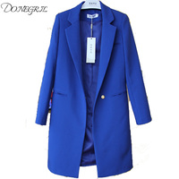High Quality 2018 Fashion Women Blazers Ladies Suit Coat Business Blazer Long Sleeve Jacket Outwear Plus Size 3XL