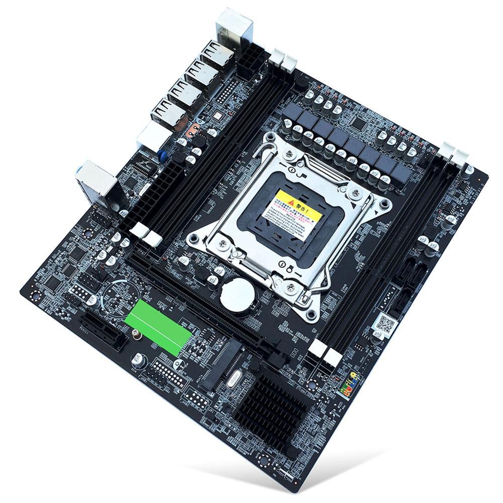 VKTECH X79 E5 A4 Carte Mère ordinateur de bureau Ordinateur Carte Mère LGA 2011 DDR3 USB2.0 SATA2 M-SATA PCI-E Support 4 Canaux RECC Mémoire