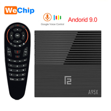 A95X F2 4K HD Android 9.0 TV Box 4GB LPDDR3 Amlogic S905X2 With Google Voice Remote 2.4G&5G Wifi BT 4.2 4K YouTube Set Top Box