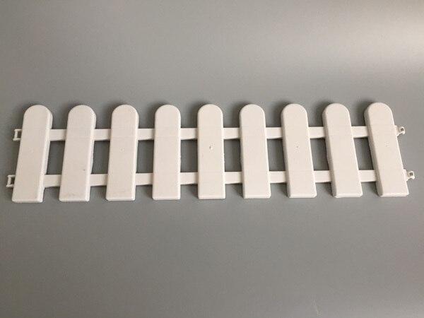 10 Pcs/Lot D50 * H13CM en plastique barrière clôture blanc jardin ...