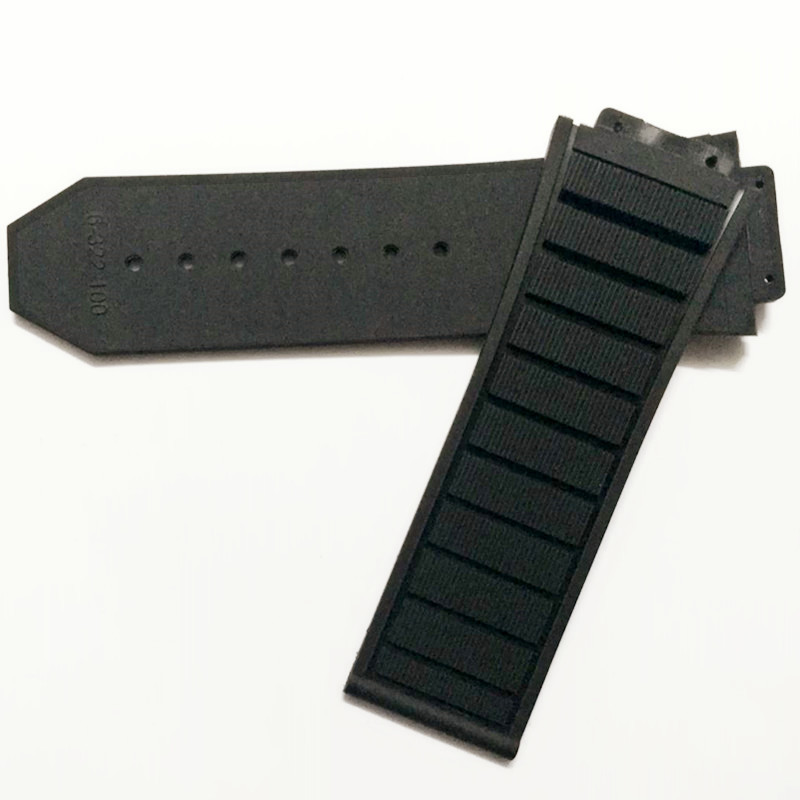29x19mm Watchband Black Soft Rubber Silicone Waterproof Watch Strap Band29x19mm Watchband Black Soft Rubber Silicone Waterproof Watch Strap Band