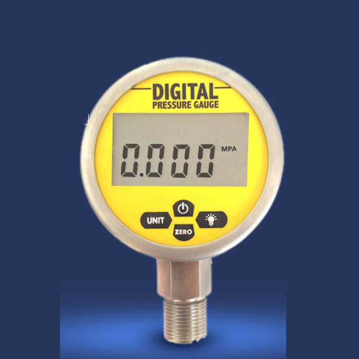 80mm 0-60Mpa(8700PSI) Stainless Steel Digital Electric Pressure Gauge Meter Manometer  ynxc 60 2 5 shock proof magnetic help 60mm oil liquid filled electric contact pressure gauge manometer lower mount bottom